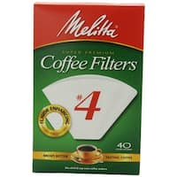Melitta 624404 Cone Coffee Filters, 40 Count, White