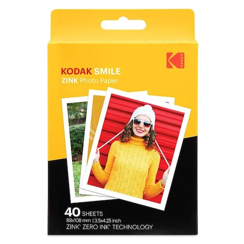 Kodak 3.5x4.25 inch Premium Zink Print Photo Paper (40 Sheets)