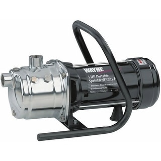 Wayne PLS100 Portable Lawn Sprinkler Pump, 1 Hp