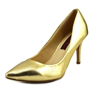 2 Lips Too Too Zane Women  Pointed Toe Synthetic Gold Heels
