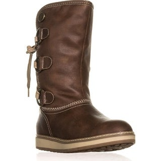 White Mountain Tivia Faux Shearling Lined Winter Boots, Cognac
