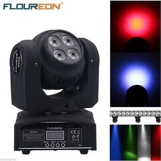 RGBW 4x10W LED Moving Wash Head Light DMX512 DJ Club Disco Party Stage Lighting - Black