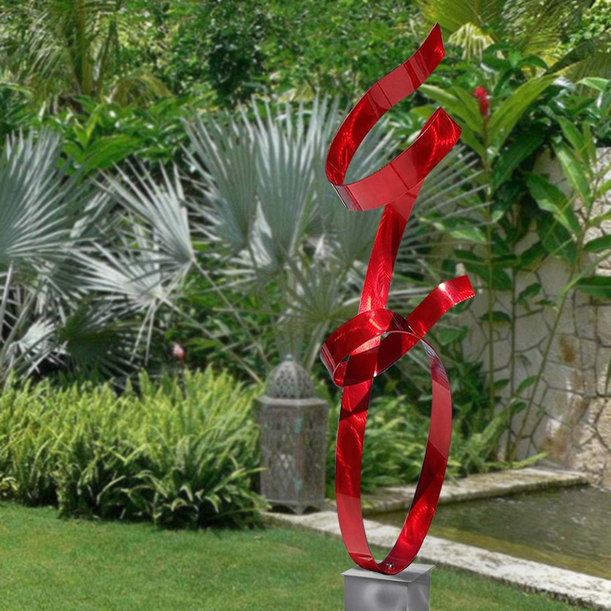 Metal Garden Sculpture Modern Yard Art