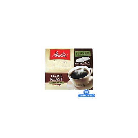 Melitta 75449 Soft Coffee Pods-Dark Roast (Single Pack) Soft Coffee Pods Dark Roast 18 Counts
