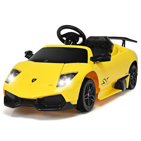 Gymax 12V Lamborghini Murciealgo Licensed Electric Kids Ride On Car RC
