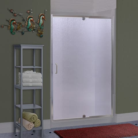 """Miseno MSDR4269 Suave 69"""" High x 36-42"""" Wide Hinged Framed Shower Door with 1/4"""" Pattern Glass -"""