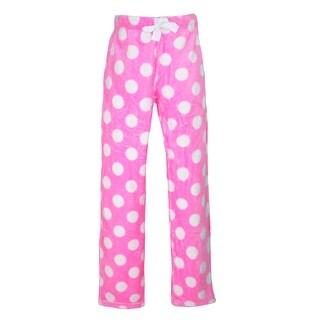 em & alfie Women's Polka Dot Plush Pajama Sleep Pants