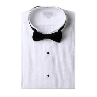 Marquis wing tip collar tuxedo shirt with bow tie|https://ak1.ostkcdn.com/images/products/is/images/direct/a325a3db8099723afd54f09a00fad9ec4e1e3ac5/Marquis-wing-tip-collar-tuxedo-shirt-with-bow-tie.jpg?impolicy=medium