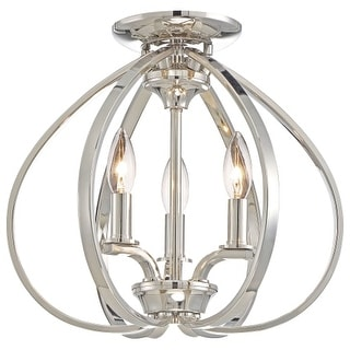 Minka Lavery 4983-613 3 Light Flush Mount Ceiling Fixture from the Tilbury Collection