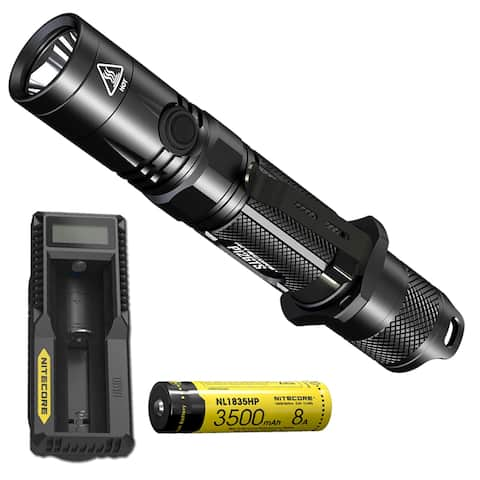 NITECORE P12GTS 1800lm LED Flashlight, Rechargeable Battery & Charger