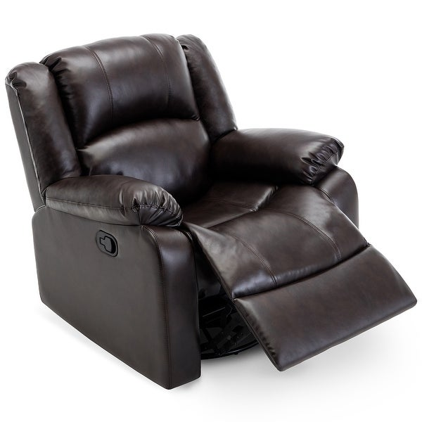 leather glider chair shop belleze rocker and swivel glider recliner chair faux 16636 | Belleze Rocker and Swivel Glider Recliner Chair Faux Leather for Living Room %28Brown%29