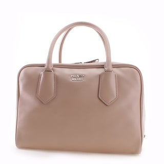 Prada Soft Calf Leather Inside Bag Tote Handbag - Pink - M