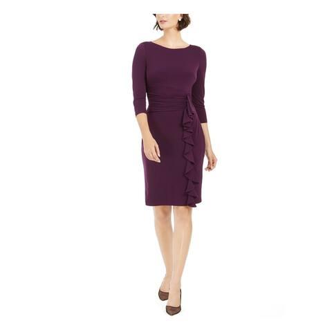 JESSICA HOWARD Purple Long Sleeve Knee Length Sheath Dress Size 14