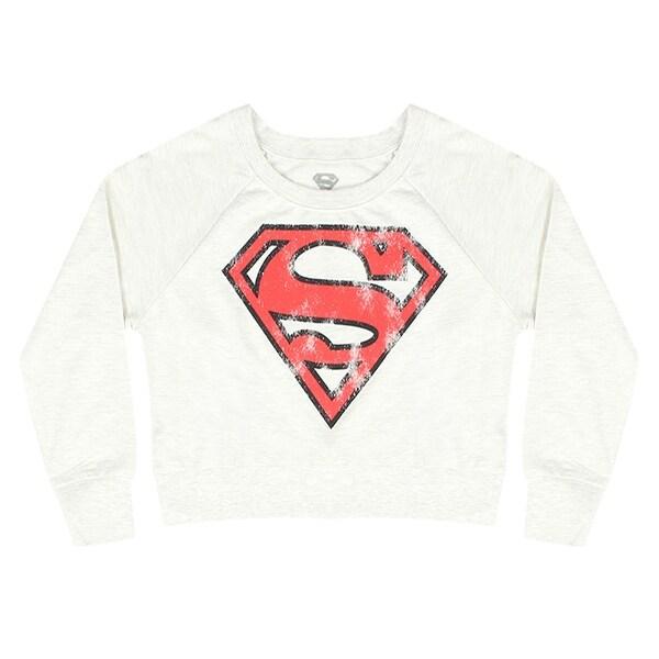 Superman Symbol Distressed Logo DC Comics Crew Neck Fleece