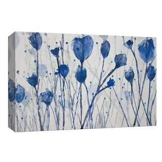 """PTM Images 9-148159  PTM Canvas Collection 8"""" x 10"""" - """"Blue Day Garden"""" Giclee Flowers Art Print on Canvas"""