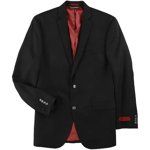Alfani Mens Solid Two Button Blazer Jacket