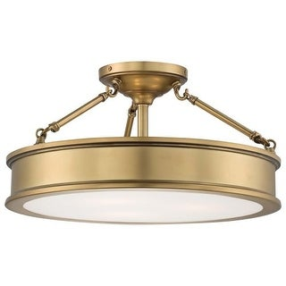 Minka Lavery 4177-249 3 Light Semi-Flush Ceiling Fixture from the Harbour Point Collection