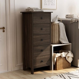 Link to Furniture of America Marcello Contemporary 5-drawer Vertical Chest Similar Items in Dressers & Chests