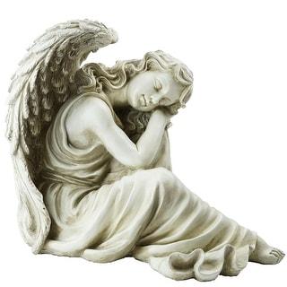 """19"""" Resting Angel Religious Outdoor Garden Statue"""