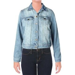 American Living Womens Denim Long Sleeves Jean Jacket
