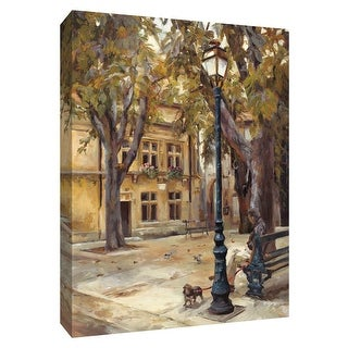 """PTM Images 9-154824  PTM Canvas Collection 10"""" x 8"""" - """"Provence Village II"""" Giclee Men Art Print on Canvas"""