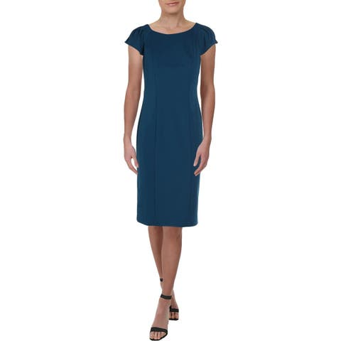 American Living Womens Jacinda Wear to Work Dress Crepe Cap Sleeves