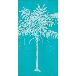 Group Tropical Stripes Guest Towel, Palm, Pack of 12 - 16
