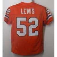 Ray Lewis Autographed Miami Hurricanes Orange Size XL Jersey JSA