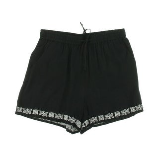 Vince Camuto Womens Embroidered Drawstring Casual Shorts - L