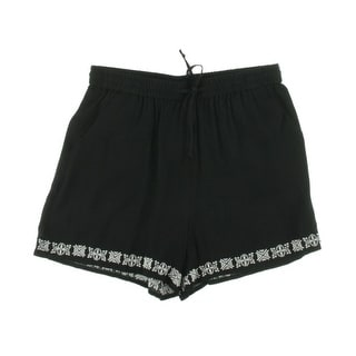 Vince Camuto Womens Embroidered Drawstring Casual Shorts