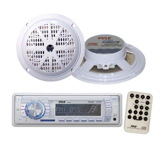 "Marine Stereo AM/FM Radio Receiver USB/SD iPod/MP3 Player + 2 x 100W 5.25"" Speakers"