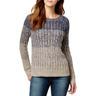 Lucky Brand Womens Pullover Sweater Wool Blend Marled