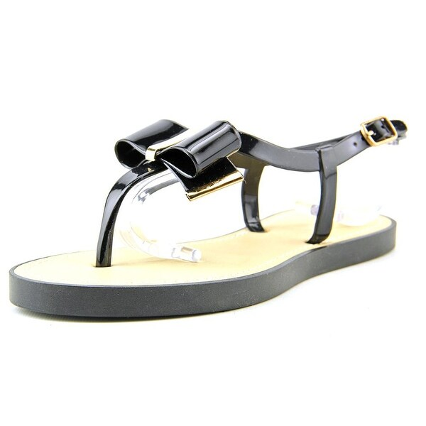 Qupid Jammy 06 Women Open-Toe Synthetic Black Slingback Sandal