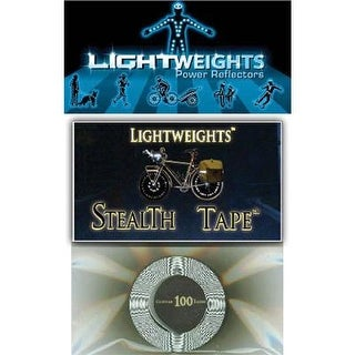 Lightweight Safety Stealth Reflective Tape - Black - 100 inches - LWST