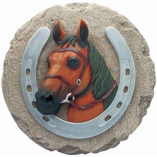 Spoontiques 13156 Horse Horseshoe Stepping Stone