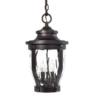 The Great Outdoors 8764-166 3 Light Lantern Pendant from the Merrimack Collection - corona bronze