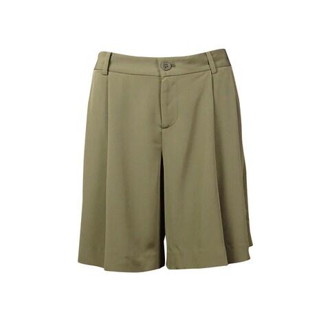 Lauren Ralph Lauren Women's Pleated Polysatin Shorts