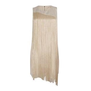 RACHEL Rachel Roy Women's Fringe Illusion Shift Dress (2 options available)