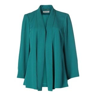 Calvin Klein Womens Plus Long Sleeves Solid Open-Front Blazer - 3X