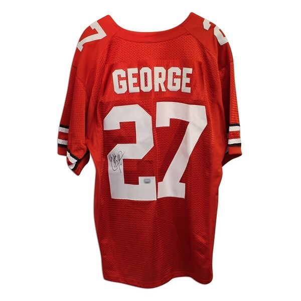 check out b61c3 661f2 Eddie George Autographed Ohio State University Buckeyes Red Nike Jersey