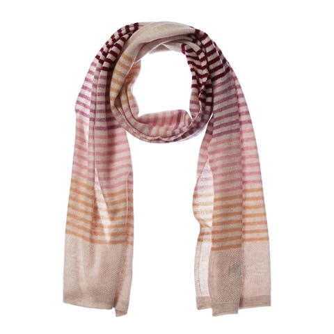 Qi Cashmere Striped Scarf