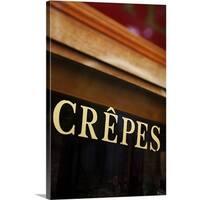 Premium Thick-Wrap Canvas entitled Crepes sign, Paris