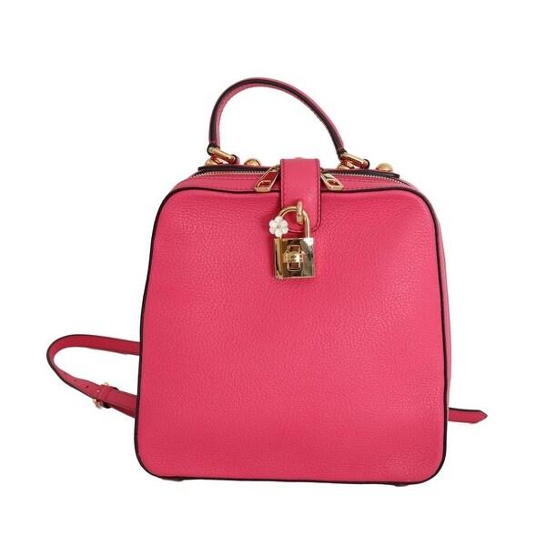 1fc3859eae Shop Dolce   Gabbana Pink ROSARIA Leather Hand Backpack Bag - One ...