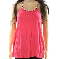 Bench Pink Black Women's Size Small S Braided Trim Tank Cami Top