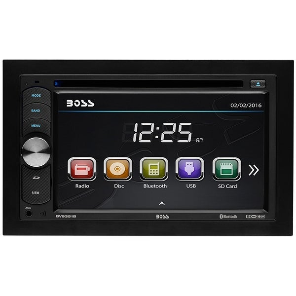 Shop Boss Audio Bv9351b Boss Double Din 6 2 Touchscreen With Bt  Remote 320 Watts