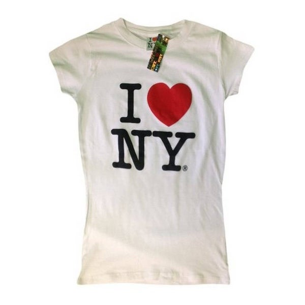 f2d1ffe8 Shop I Love NY New York Womens T-Shirt Spandex Tee Heart Ladies White Large  - Free Shipping On Orders Over $45 - Overstock - 21868275