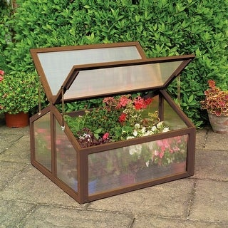 Link to Costway Double Box Garden Wooden Green House Cold Frame Raised Plants Similar Items in Gardening