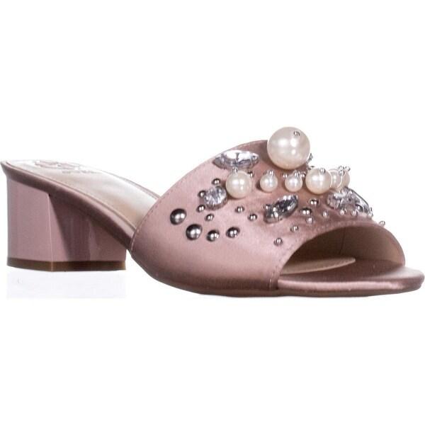 Guess Dancerr Open Toe Casual Slide Sandals, Light Pink