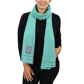 Moschino SCR11242/2 Green/White Checkered Scarf - 25-74