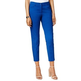 Anne Klein NEW Mariner Blue Women's Size 0X27 Ankle Cropped Pants